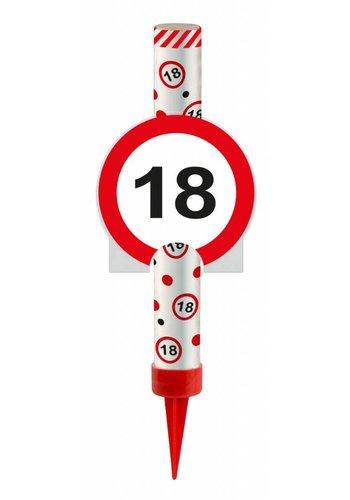 IJsfontijn verkeersbord Cijfer 18