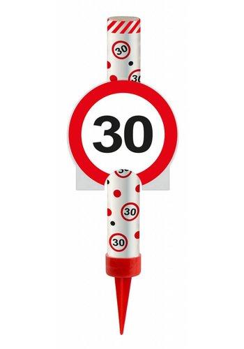 IJsfontijn verkeersbord Cijfer 30