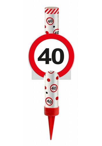 IJsfontijn verkeersbord Cijfer 40