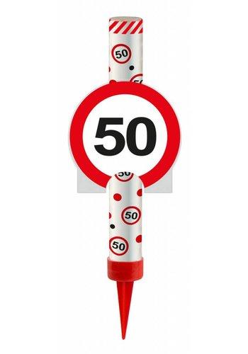 IJsfontijn verkeersbord Cijfer 50