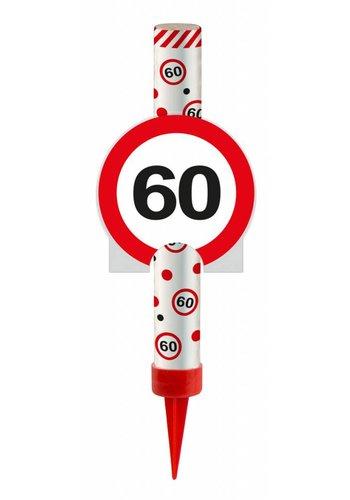 IJsfontijn verkeersbord Cijfer 60