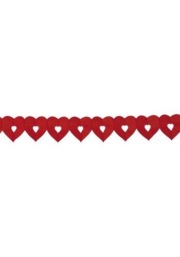 Slinger mini hart Rood - 6 meter