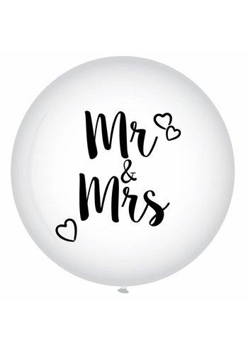 Mega Ballon - Mr & Mrs - 90cm