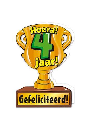 Wenskaart Trofee - 4 Jaar