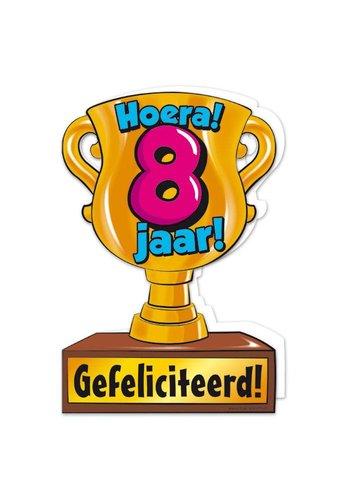 Wenskaart Trofee - 8 Jaar