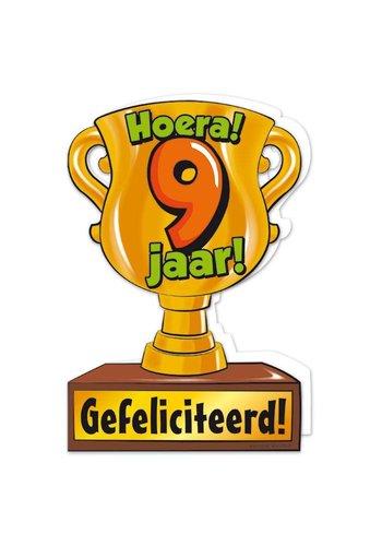 Wenskaart Trofee - 9 Jaar