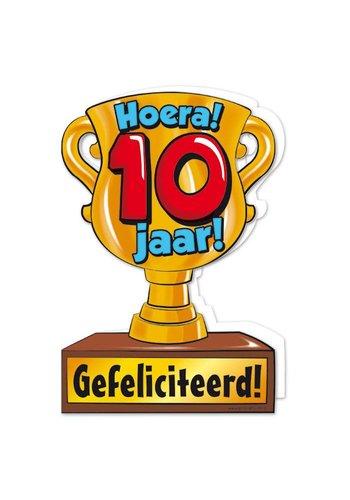 Wenskaart Trofee - 10 Jaar