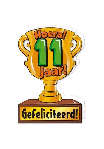 Wenskaart Trofee - 11 Jaar