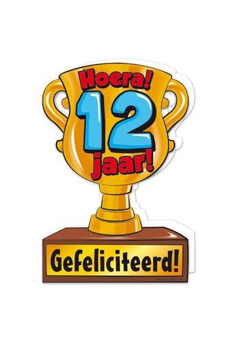 Wenskaart Trofee - 12 Jaar