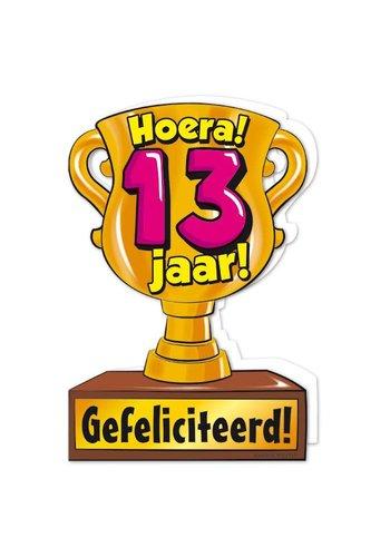 Wenskaart Trofee - 13 Jaar