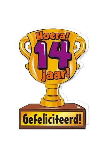 Wenskaart Trofee - 14 Jaar