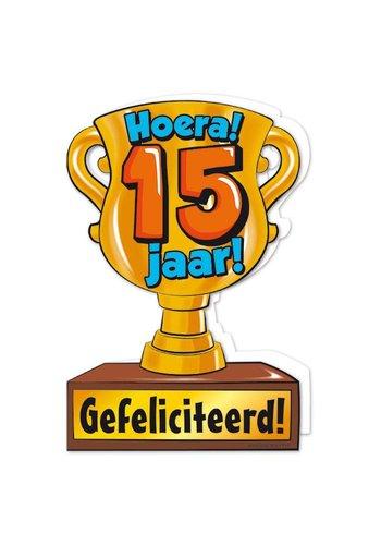 Wenskaart Trofee - 15 Jaar