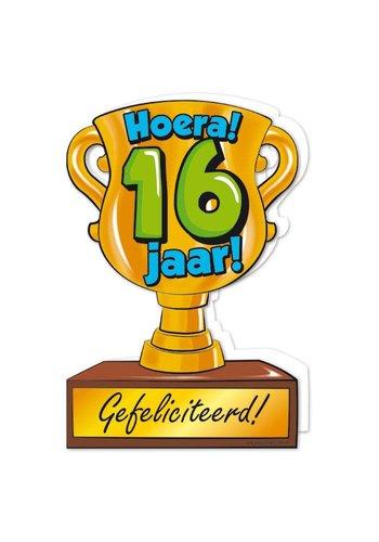 Wenskaart Trofee - 16 Jaar