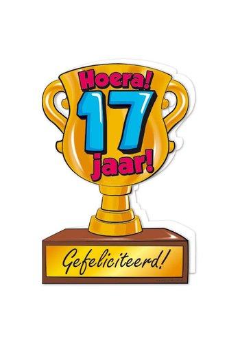 Wenskaart Trofee - 17 Jaar