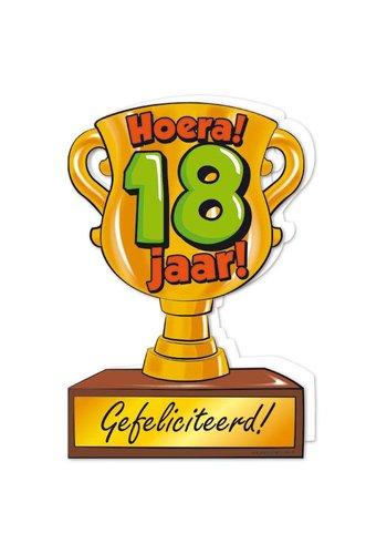 Wenskaart Trofee - 18 Jaar