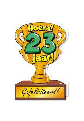 Wenskaart Trofee - 23 Jaar