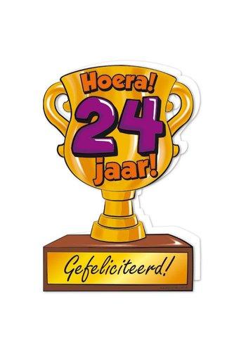 Wenskaart Trofee - 24 Jaar