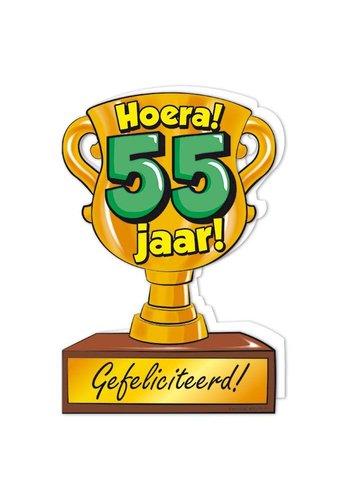 Wenskaart Trofee - 55 Jaar