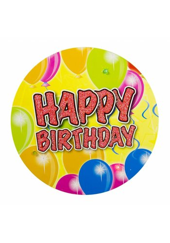LED Button Happy Birthday Balloons