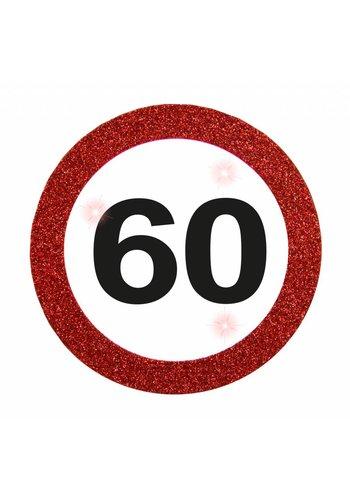 LED Button Verkeersbord 60