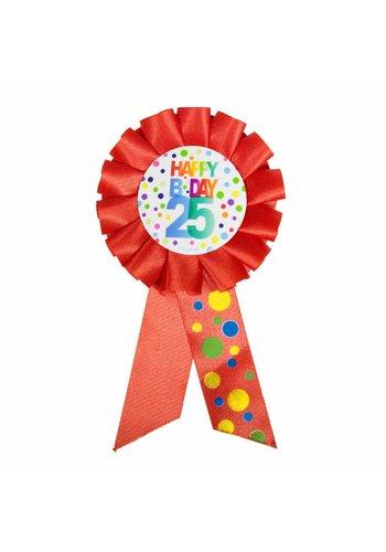 Rozet Rainbow Happy Birthday 25