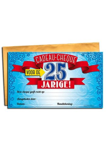 Gift Cheque - 25 jaar