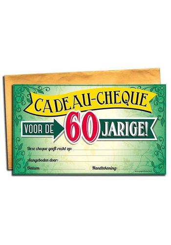 Gift Cheque - 60 jaar