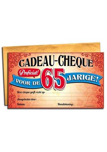Gift Cheque - 65 jaar