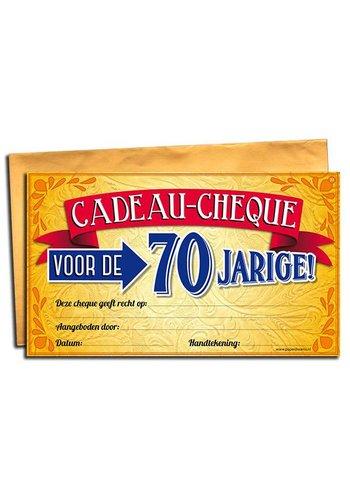 Gift Cheque - 70 jaar