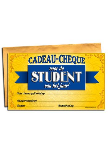 Gift Cheque - Student