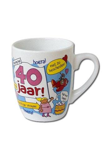 Cartoon mok - 40 jaar vrouw