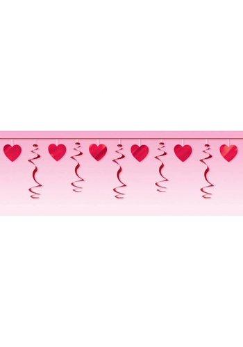 Garland Heart Swirl Red - 365cm