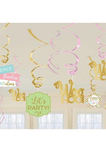 Swirl Deco Confetti Fun - 12 stuks