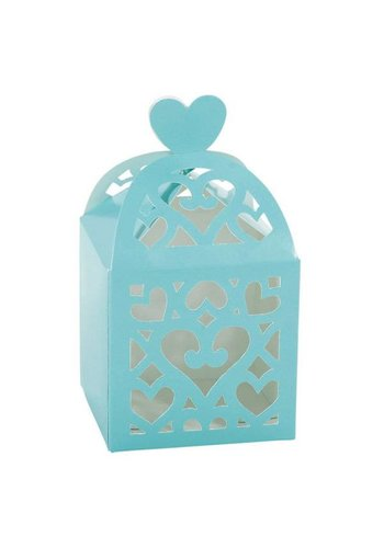 Favour Boxes Colourful Wedding Mint - 50 stuks - 6.3x6.3x6.3cm