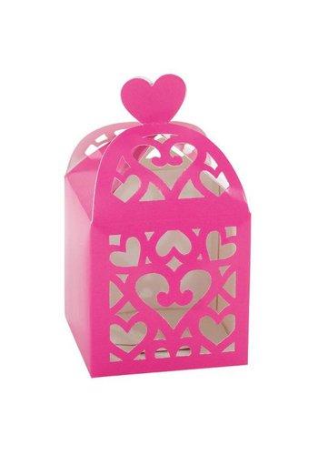 Favour Boxes Colourful Wedding Pink - 50 stuks - 6.3x6.3x6.3cm
