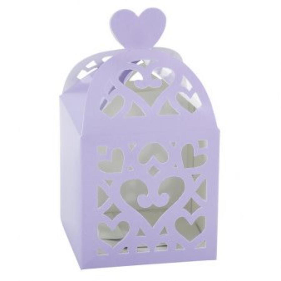 Favour Boxes Colourful Wedding Lilac - 50 stuks - 6.3x6.3x6.3cm-1