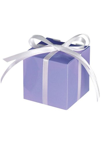 Treat Boxes Colourful Wedding Lilac - 100 stuks - 5.7x5.7x5.7cm