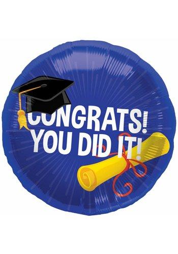 "Folieballon ""Congrats You Did It"" - 45cm"