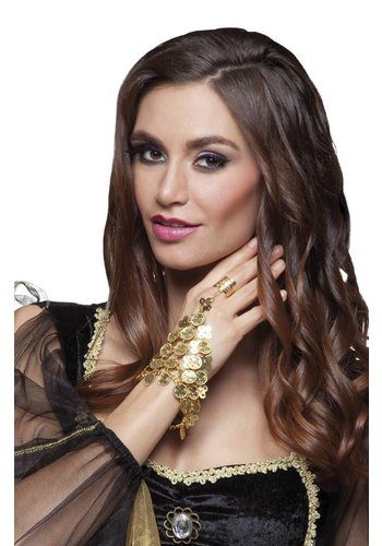 Handketting Belly dance - armband met ring