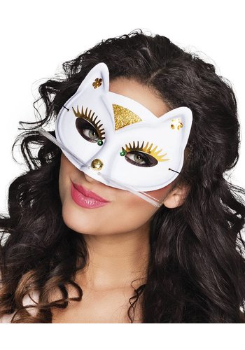Oogmasker Kat - Wit