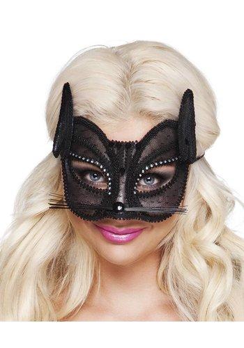 Oogmasker Zwarte Kat Deluxe