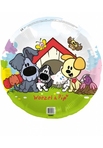 Woezel en Pip folieballon 45cm