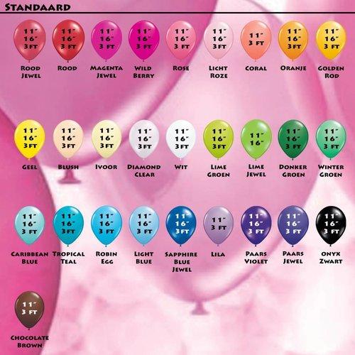 Kleuren tabel ballonnen