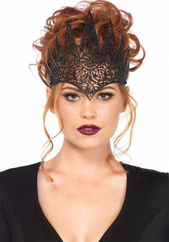 Die cut royal crown - Zwart