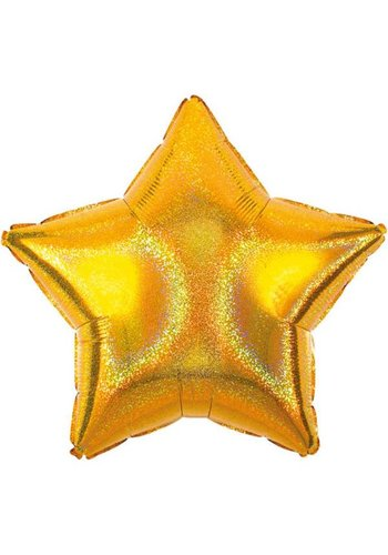 Folieballon Sparkle Gold Star - 45cm