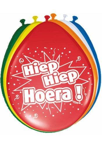 Hiep Hiep Hoera Ballonnen - 30cm - 8 stuks