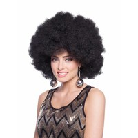thumb-Afro Pruik - Zwart-1