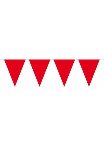 Vlaggenlijn XL Rood - 10 meter