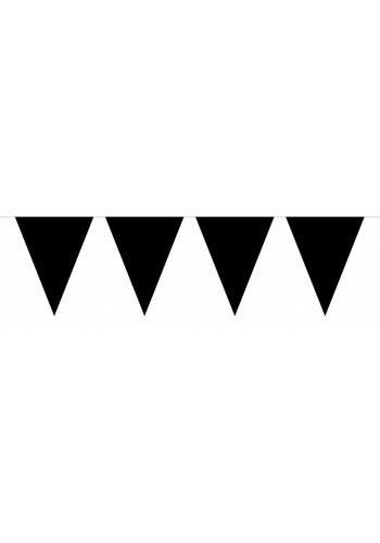 Vlaggenlijn XL Zwart - 10 meter