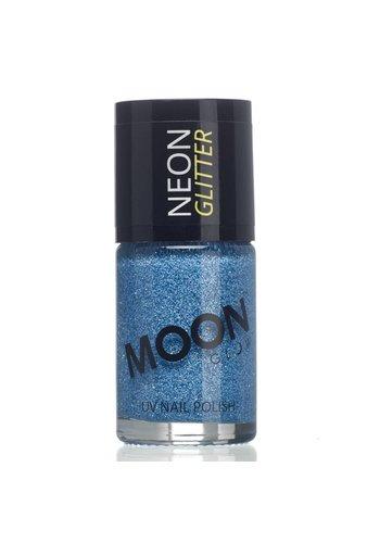 Neon UV Glitter Nagellak - Blauw - 14ml